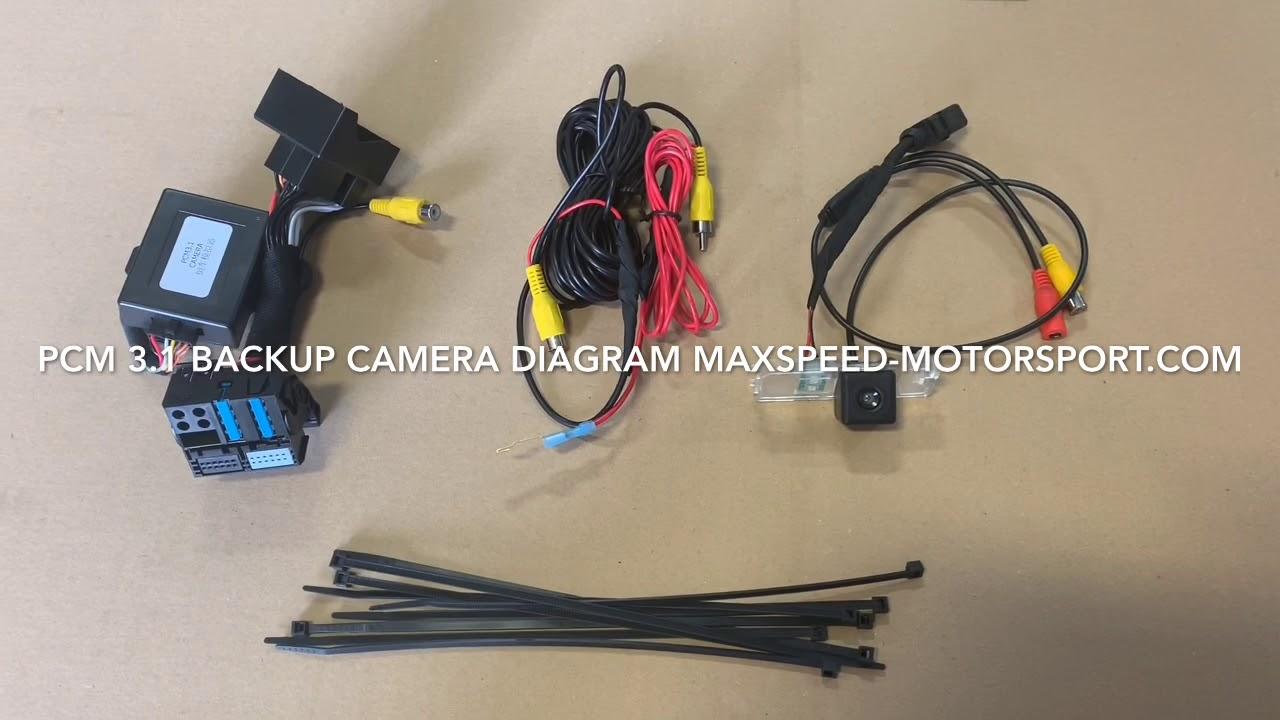 porsche backup camera kit for pcm 3 1 boxster cayman carrera panamera cayenne 981 991 [ 1280 x 720 Pixel ]