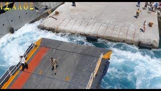 Blue Star Naxos - Αδυναμία πρόσδεσης στη Σχοινούσα και επανάληψη της προσέγγισης!