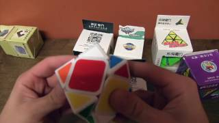 Unboxing Pyraminx and Skewbs from DaYan, QiYi, and YJ