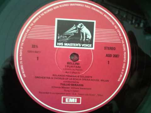 "I Puritani  ""A TE O CARA""  Callas Di Stefano  Serafin  (rare STEREO!!)"