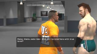 wwe smackdown vs raw 2011 road to wrestlemania cena part 4 mixed tag match
