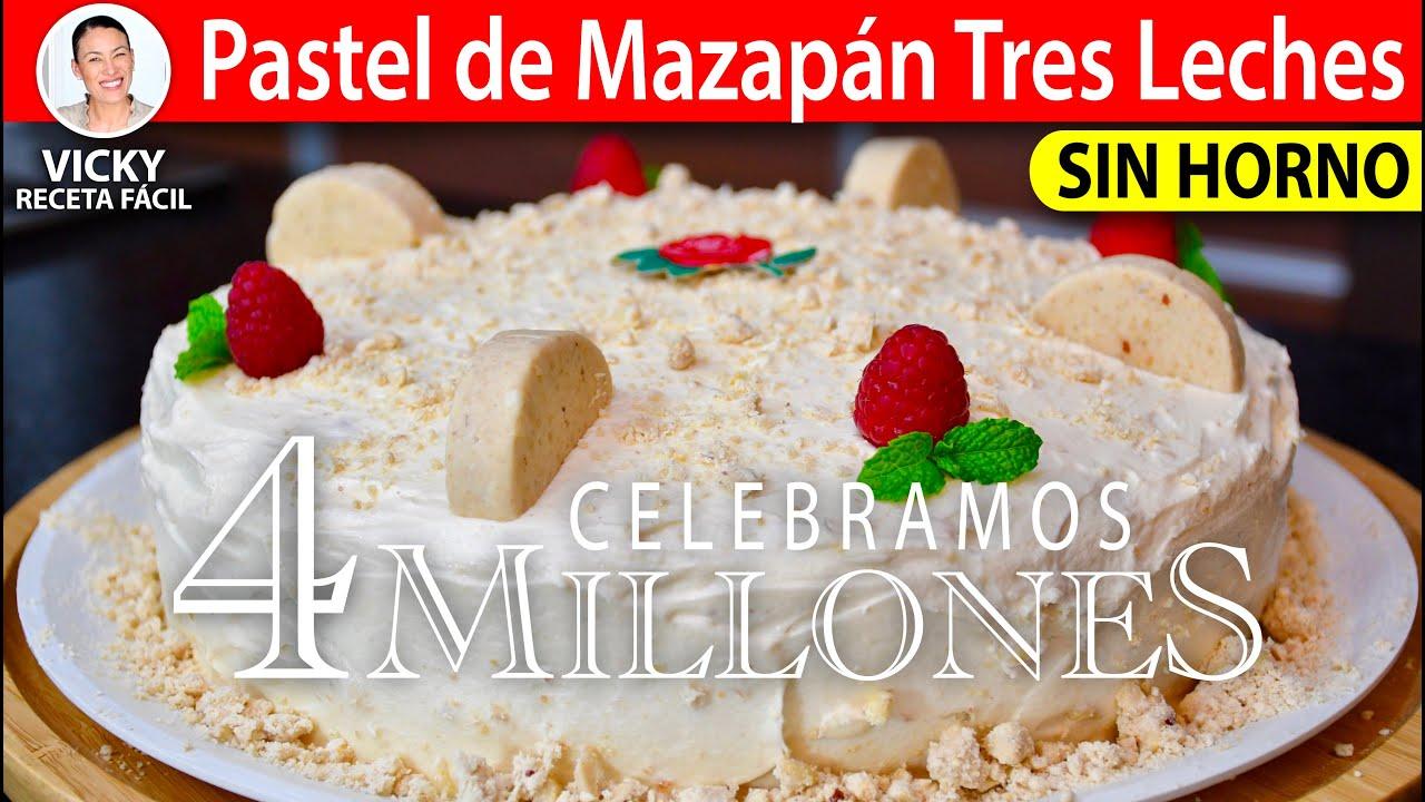 Pastel de Mazapán Tres Leches Sin Horno | #VickyRecetaFacil