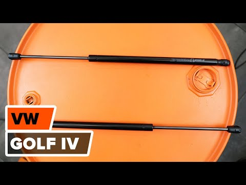 How to replace tailgate strutsonVW GOLF 4TUTORIAL | AUTODOC