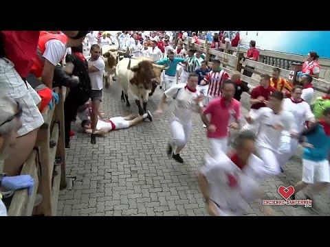 İspanya'nın San Fermin Festivali boğa koşusunda 5 kişi yaralandı