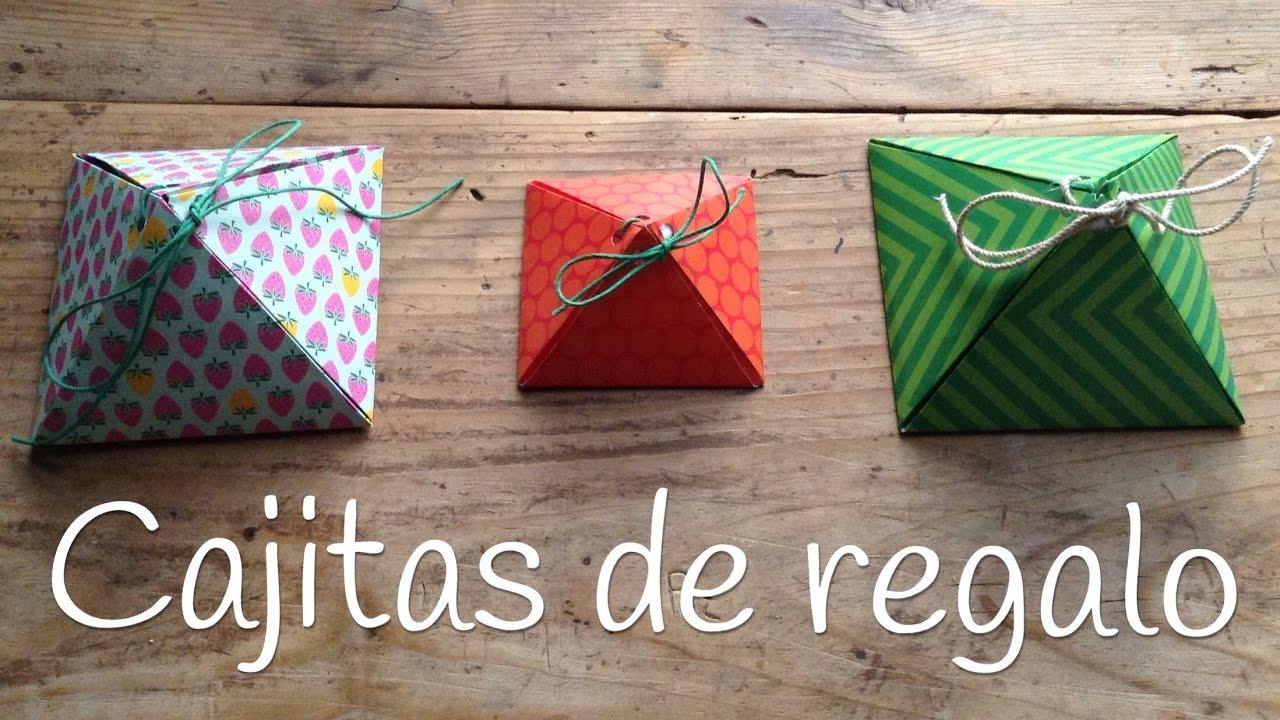 Cajas De Regalo Originales Piramide Manualidades Para El Dia De La