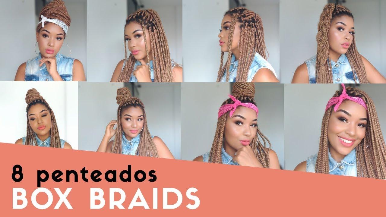 8 Penteados Fáceis Para Trançasbox Braids