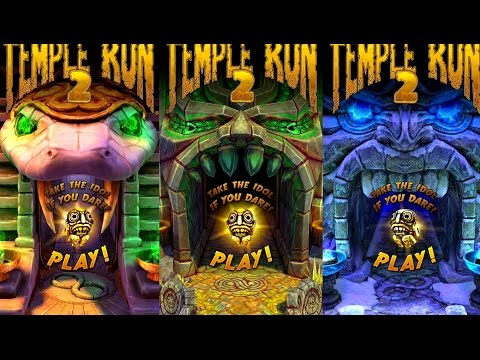 Temple Run 2 Frozen Shadows VS Blazing Sands VS Sky Summit Android Gameplay HD #4