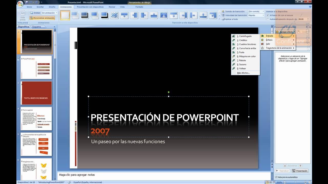 animar diapositivas en powerpoint