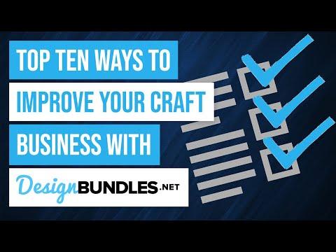 ✨ Top Ten Ways to Help Your Craft Business with Design Bundles