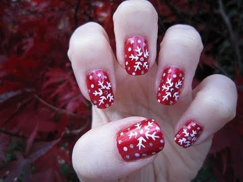 Winter Snowflake Nail Tutorial thumbnail
