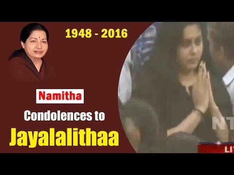 Actress Namitha Condolences to #Jayalalithaa    #RIPAmma    Tamil Nadu    NTV