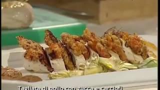 Tagliata di pollo con zucca e carciofi