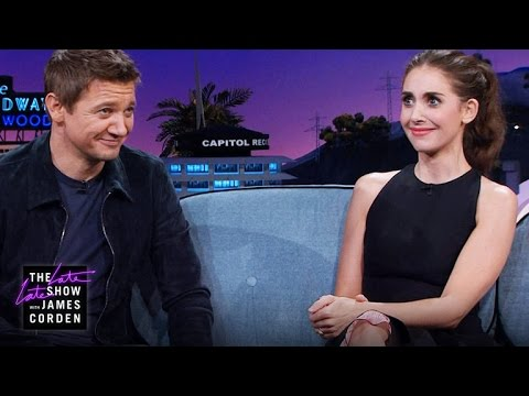 Jeremy Renner & Alison Brie on Bachelorette Parties