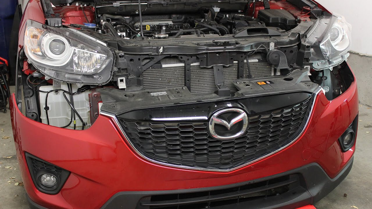 hight resolution of mazda cx 5 front bumper cover removal and installation 2013