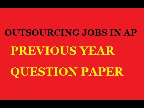 RCUES MODEL PAPER || OUTSOURCING JOBS IN AP MUNICIPALITIES - PREVIOUS YEAR QUESTION PAPER