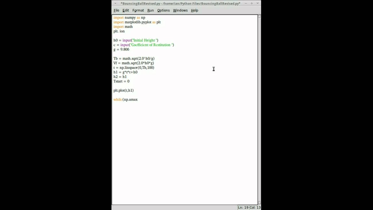 Time Lapse: Graphing a Bouncing Ball in Python