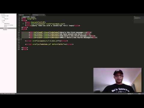 SCREENCAST TUTORIAL: JavaScript for() loop That Creates A