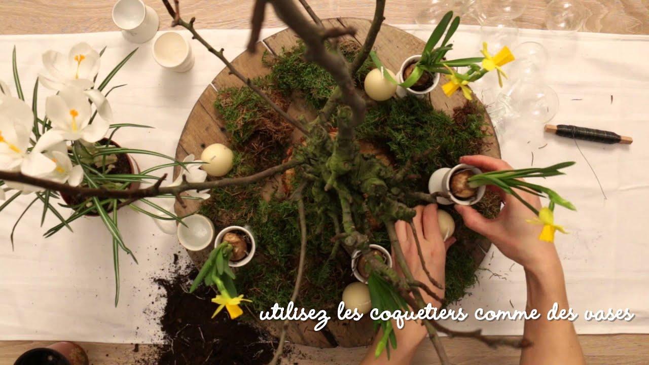 DIY pour Pâques: un bouquet fleuri - YouTube
