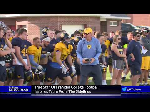 True Star Of Franklin College Football Team Inspires From The Sidelines