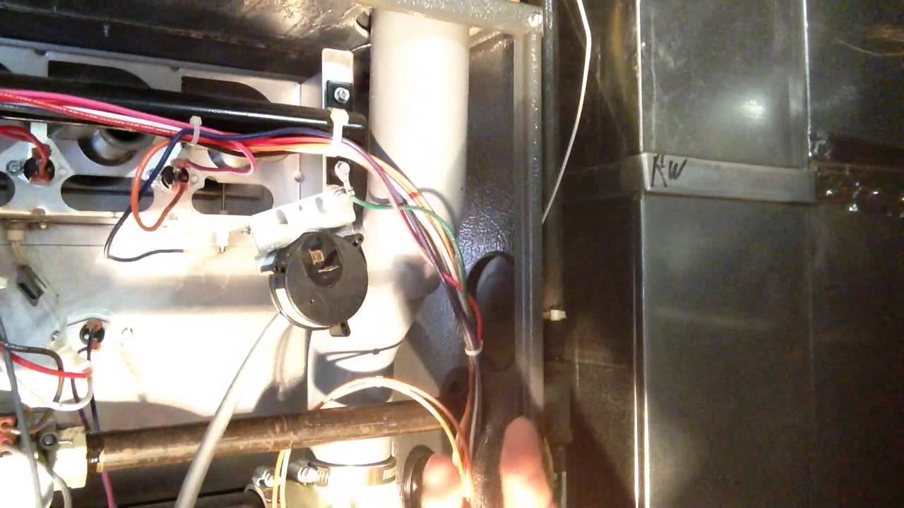 DIY How To temporary fix furnace pressure switch  YouTube