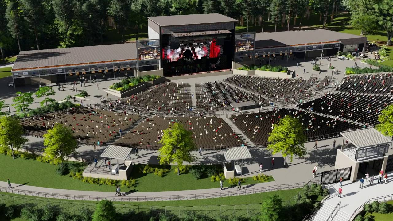Brandon Amphitheater At The Quarry Youtube