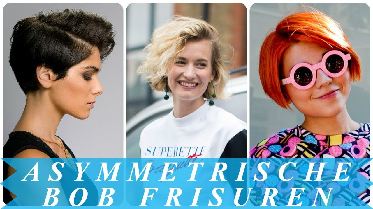 Coole Asymmetrische Frisuren Damen Den Frühling 2018 Youtube