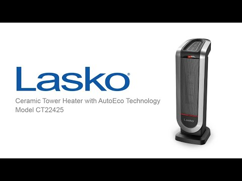 Lasko Ceramic Tower Heater With Autoeco Technology Model Ct22425 Youtube