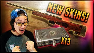 NEW Crate Opening! GOLD AWM + More NEW PUBG Weapon Skins in the Equinox Gun Crate!