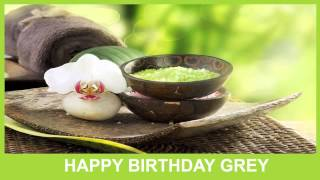 Grey   Birthday Spa - Happy Birthday