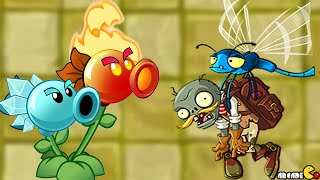 Plants vs. Zombies 2 - Temple Of Bloom Challenge Fire Peashooter!