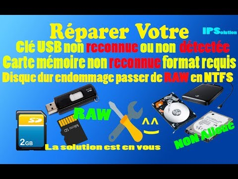 r parer une cl usb endommag e en quelques minutes 2017 how to repair a corrupted usb flash. Black Bedroom Furniture Sets. Home Design Ideas