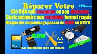 Réparer une clé USB endommagée en quelques minutes 2017 | How To Repair A Corrupted USB Flash Drive