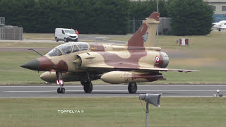 Magic precision flying ! Couteau Delta Tactical Display team fly with two Mirage 2000D aircraft