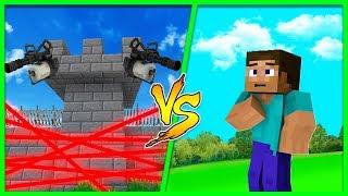 Minecraft - SECRET SECURE BASE CHALLENGE, CAN WE GET IN?