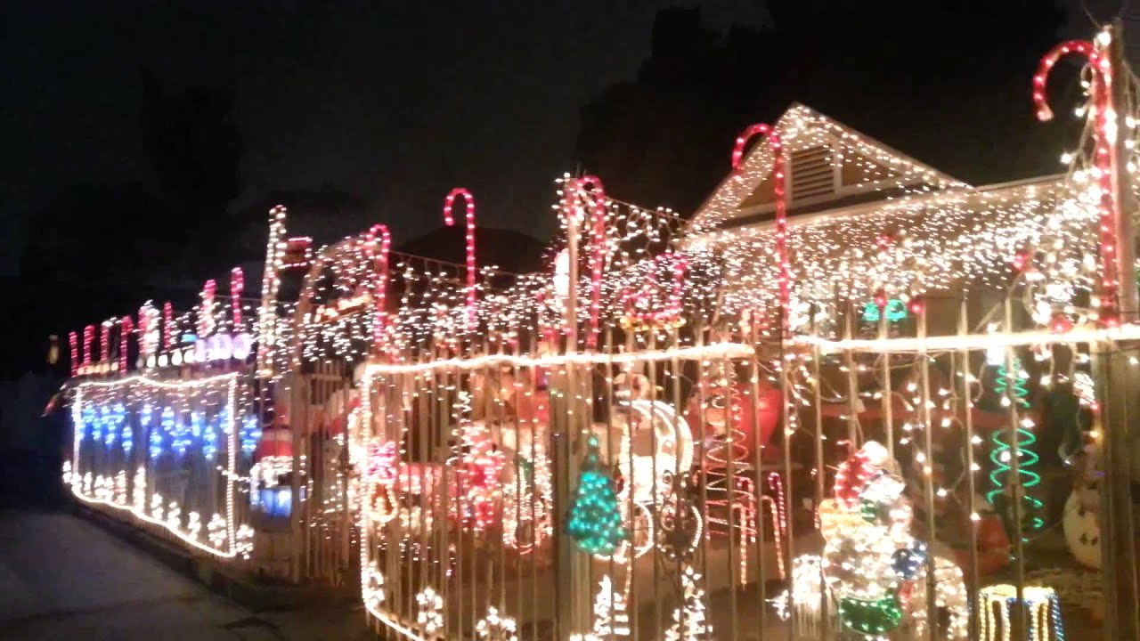 Nice Christmas Lights Show In Los Angeles Ca   YouTube