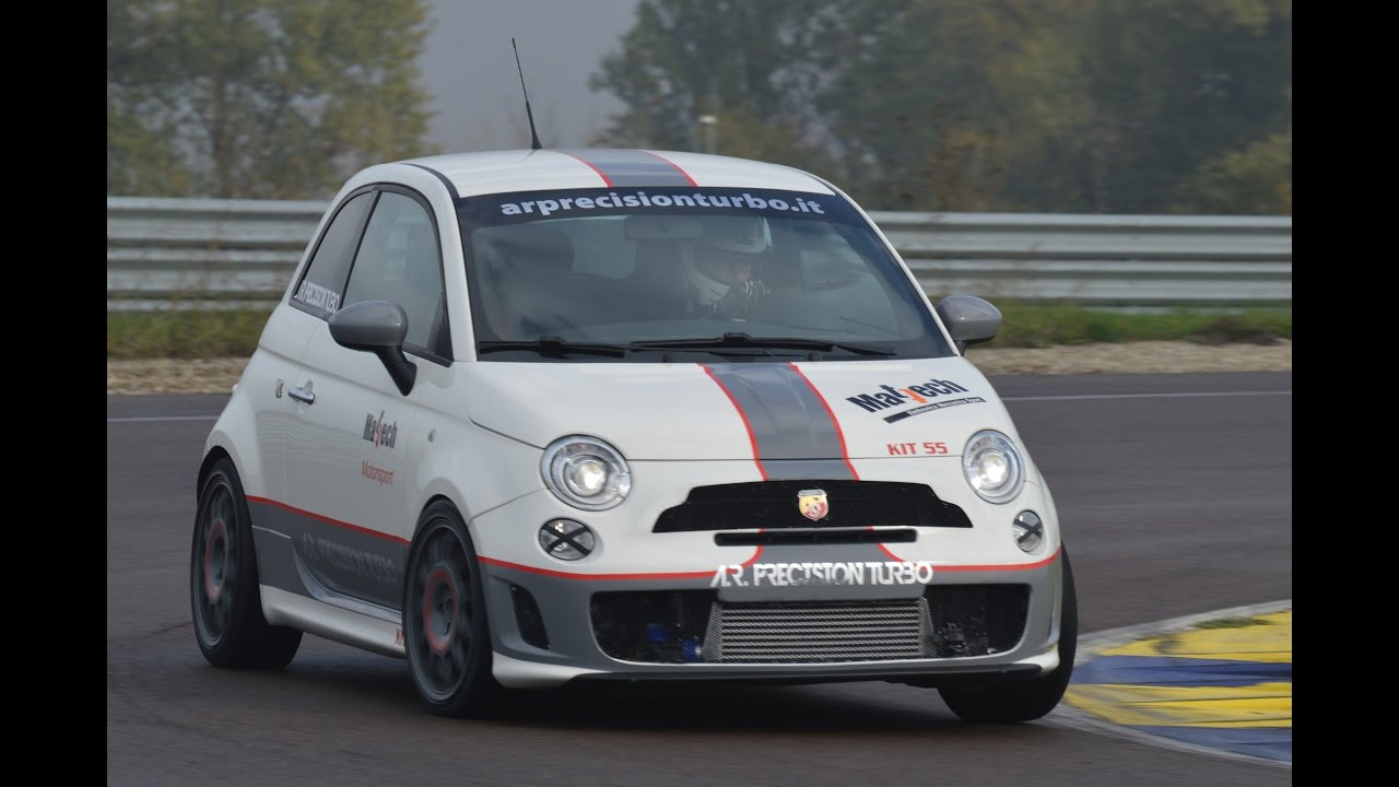 Fast 260 Hp Fiat 500 Abarth In Action On Track Youtube
