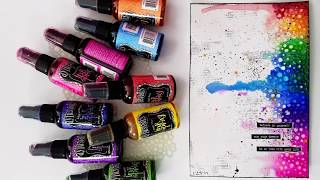 Easy 20 Minute Rainbow Mixed Media Art Journal Page  Dylusions  Ink Sprays + Texture