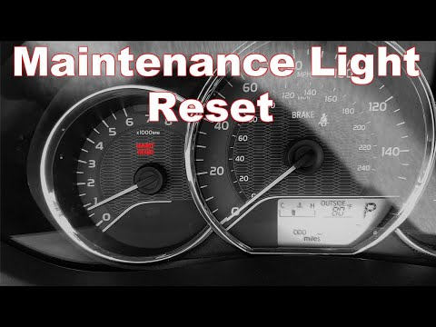 How To Reset Maintenance Light On A Toyota Corolla 2014 2016