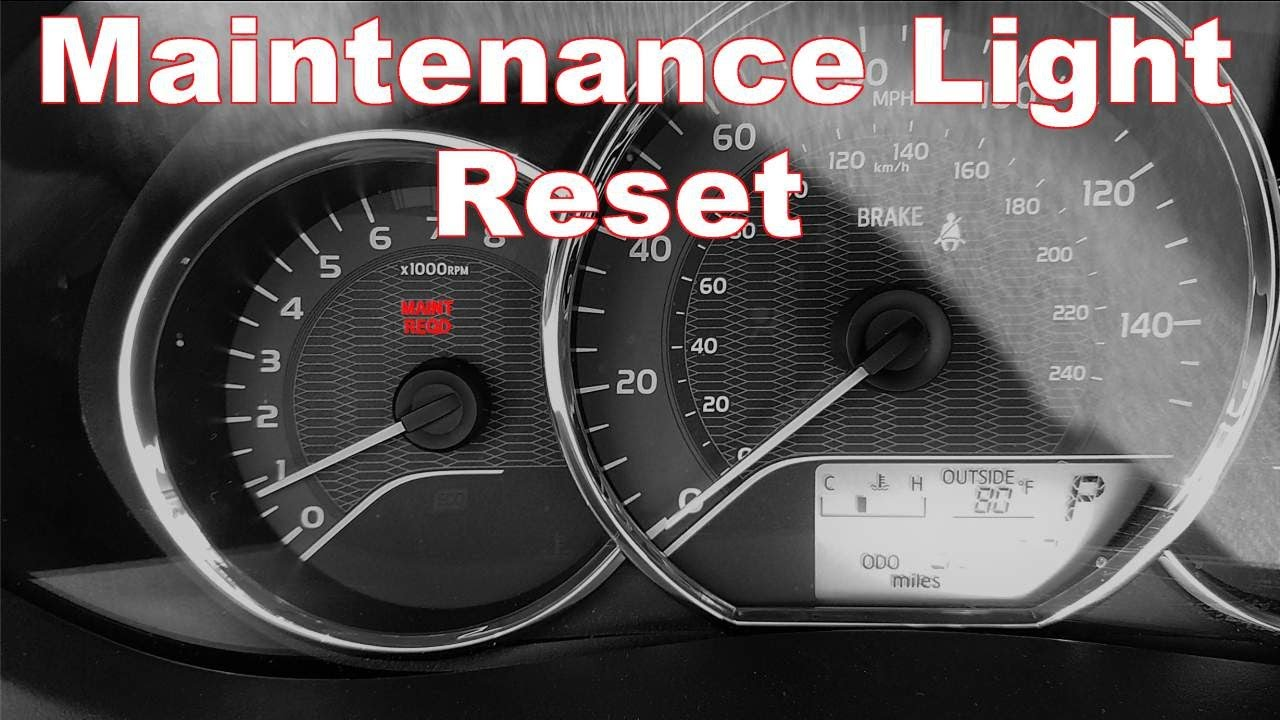 Reset Maintenance Light On 2014 2017 Toyota Corolla Youtube