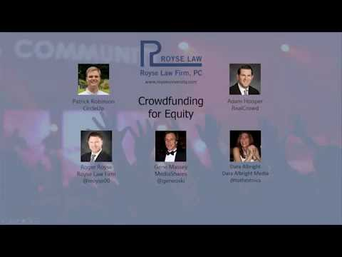 Crowdfunding for Equity