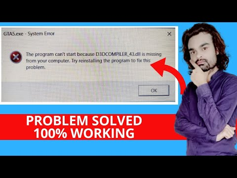 The program cant start because D3DCOMPILER 43.dll is missing from your computer.Problem Solution