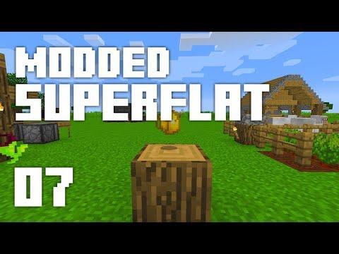 ►Modded Superflat - GOLDEN! | Ep. 7 | Modded Minecraft Survival◄