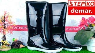 Женские резиновые сапоги DEMAR HAWAI LADY B (черно-белые). Видео обзор от STEPIKO