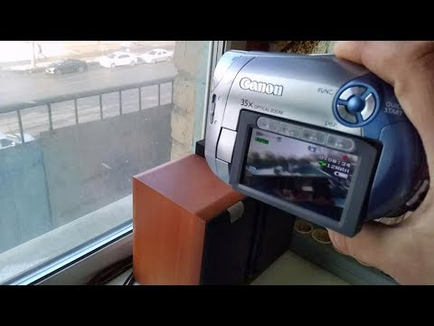 Canon DC210 DVD Camcorder Test Optical Zoom 35X Test Dolby Digital AC-3