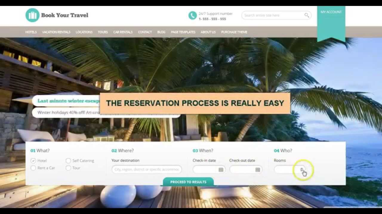 Hotel booking wordpress theme best template to create for Making a wordpress template