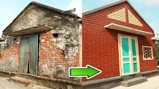 1970s brick house Restoration with bricklaying - Bricklaying Model