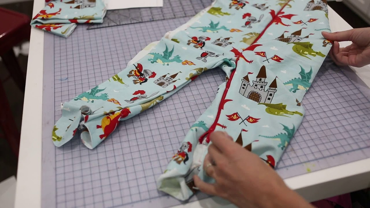 c030ce9743 How to Sew Footy PJs  Classic Zipper PJs Sewing Tutorial - YouTube