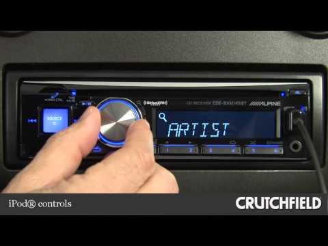 Alpine CDE-SXM145BT Car CD Receiver Display And Controls Demo | Crutchfield Video