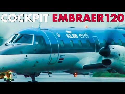 Cockpit KLM EXEL Embraer 120 To Rotterdam (1999)