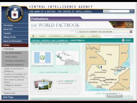 CIA World Factbook Demonstration.avi
